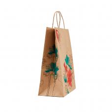 """Пакет """"Квіти"""" з крученими ручками (290х210х115) - зображення"""