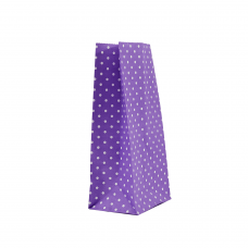"""Пакет """"Горошок фіолетовий"""" (190х95х65) - зображення"""