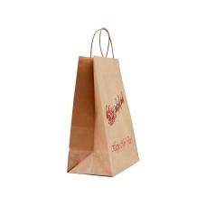 """Пакет """"Сани"""" з крученими ручками (335х260х140) - зображення"""