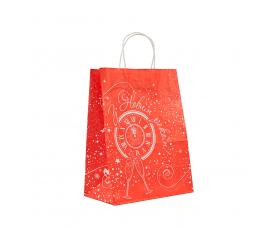 """Пакет """"Новий рік"""" з крученими ручками (335х260х140) - зображення"""